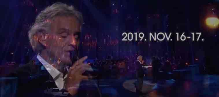 Andrea Bocelli Budapest 2019 - Gold Hotel Budapest